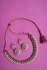 Designer Indian Bollywood Kundan Jewelry Gold Plated Fashion Polki Necklace Set