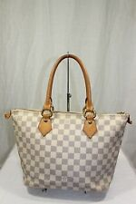 Authentic LOUIS VUITTON Damier Azur Saleya PM Hand Bag Tote Purse