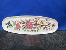 Zsolnay Vintage Hand Painted Porcelain Floral & Butterfly Tray