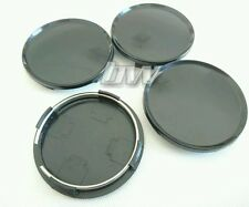 4x BLACK 68MM ALLOY WHEEL CENTRE CAPS UNIVERSAL FIT BMW AUDI VW VOLKSWAGEN SEAT
