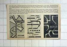 1957 Prizewinners Of Ferodo Stair Tread Competition Cup Designs
