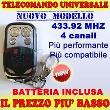 TELECOMANDO UNIVERSALE CANCELLO AUTOMATICO 433,92 MHZ GARAGE SERRANDE AUTO faac