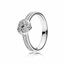 GENUINE AUTHENTIC PANDORA STERLING SILVER SPARKLING KNOT RING 190997CZ SIZE 52