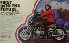 1978 HONDA GL-1000 GOLD WING 2 Page Original Motorcycle Ad GL1000