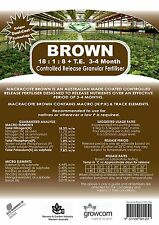 Macracote Brown Fertiliser 4kg Langleys Native Plants Fertilizer Low Phosphorus