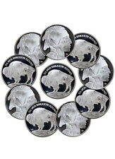 Lot (10) 2016 Highland Mint 1 Oz Silver American Indian Buffalo Rounds SKU37570