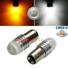 2x High Power 1157 Switchback LED Bulbs White/Amber For Front Turn Signal Lights