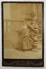 Antique Cabinet Card Photograph - Young Boy In Front of Great Background, PA