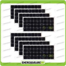 Set 8 Pannelli Solari Fotovoltaici 100W 12V Monocristallino Pmax 800W Baita Barc