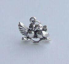 LOVE BIRDS BIRD 3D CHARM 925 STERLING SILVER