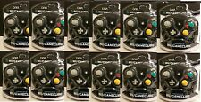 12 PIECE WHOLESALE LOT BLACK CIRKA CONTROLLERS FOR NINTENDO GAMECUBE Wii