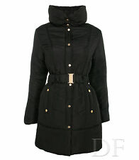 padded puffa coat black with gold hardware size 8