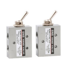 """2X 1/8"""" Female Thread Toggle Switch Pneumatic Mechanical Valve 5-way 2 Position"""