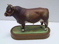 Royal Worcester Porcelain DAIRY SHORTHORN BULL Figurine by Doris Lindner 1965