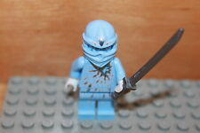 Lego Ninjago - Ninja ZANE NRG Figur in hellblau mit Klinge aus Set 9590