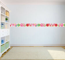 Flower Dot Children's Bedroom Self Adhesive Wallpaper Border Girls Nursery