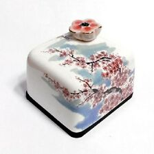 Cherry Blossoms Flower Korea Orgel Music Box Paperweight Hand Craft Figure