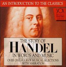 THE STORY OF HANDEL IN WORDS AND MUSIC CD RARE MUSICAL SELECTIONS VOX 1993