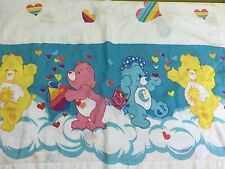 Care Bears Twin Flat Sheet Raindow Hearts Care Bear Fabric Material Craft AB