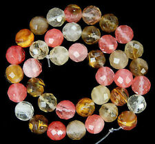 """6mm Faceted Watermelon Tourmaline Round Gemstone loose Beads 15"""" LL006"""