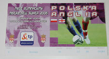 Ticket for collectors World Cup q * Poland - England 2004 Chorzow
