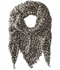 Chan Luu Hollywood Celebrity Scarf Soft Cashmere Silk Wrap Leopard Dove Black