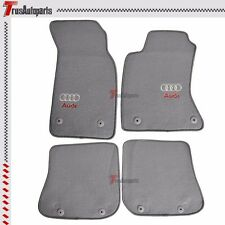 Fit For 96-01 Audi A4 Sedan Wagon Grey Nylon Floor Car Mat Carpets 4pcs Gray