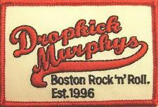 """DROPKICK MURPHYS AUFBÜGLER / EMBROIDERY PATCH # 2 """"BOSTON ROCK 'N' ROLL EST.1996"""