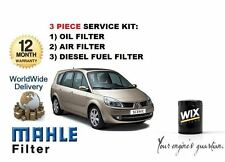 FOR RENAULT GRAND SCENIC 1.9 DCi  02/2004-> OIL AIR FUEL  FILTER SERVICE KIT