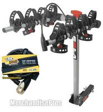 """ROLA BIKE CARRIER 4 BICYCLES WITH 1-1/4"""" TO 2"""" REESE RECEIVER HITCH KIT BUNDLE"""