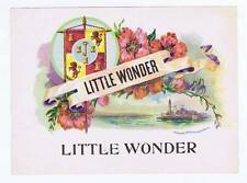 Little Wonder inner cigar box label Flowers
