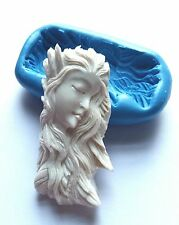 Beautiful Woman GODDESS Silicone Mould 60 mm PMC Resin Fondant Polymer Clay