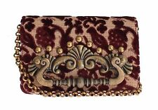 NEW $1600 DOLCE & GABBANA Bag GINEVRA Bordeaux Baroque Embroidered Purse Clutch
