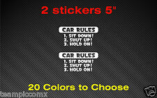 Car rules Decals Stickers Car 2 stickers Truck vinyl JDM racing decal funny