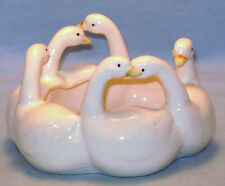Country Duck Goose Ron Gordon Design Ceramic Planter Trinket Coin Dish 1982 Vtg