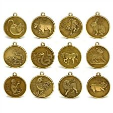 Set of 12 chinese zodiac charms 1 pendant amulet lucky metal coin set of 12 chinese zodiac charms 1 pendant amulet lucky metal coin horoscope aloadofball Gallery