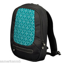 Sherpani Vega Jade Tablet IPad Backpack Case Black Aqua Blue Padded Organizer