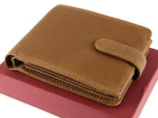 Visconti Mens Gents Leather Wallet For Credit Cards, Notes, Coins - Oak DRW30
