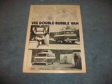 """1971 Ford Econoline Custom Van Vintage Article """"Vee Double-Bubble Van"""" VW Top"""