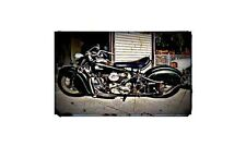 1946 Indian Chief Bike Motorcycle A4 Photo Poster
