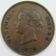 CYPRUS -  QUEEN VICTORIA  HALF (1/2)  PIASTRE COIN  dated 1879  (SCARCE)