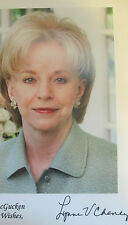 10x8 Hand Signed Photo Lynne Cheney, wife of Vice President Dick Cheney