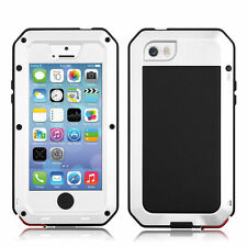New Style Waterproof Aluminum Gorilla Glass Case For iPhone 6S Plus 4 4S 5 5S 5C