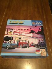 Cruisin WALLY'S SERVICE STATION 1000 pc. Master Pieces Puzzle  ** Complete**