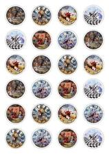 24 Alice In Wonderland Cupcake Fairy Cake Toppers Edible Rice Paper