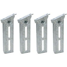 4 Pack 10 Inch Boat Trailer Hot Dipped Galvanized Swivel Top Bunk Board Brackets