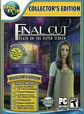 FINAL CUT DEATH ON THE SILVER SCREEN Hidden Object PC Game DVD NEW + Bonus!
