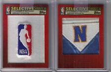 2) 05/06 Topps Selective Swatch Carmelo Anthony Game Used NBA Nuggets Logo #1/1