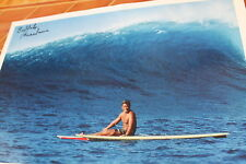 AUTOGRAPHED Buffalo Keaulana Signed vintage Hawaii Surf Surfing 13x18 in. POSTER