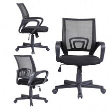 Ergonomic Mid-Back Executive Swivel Black Mesh Office Chair Computer Furniture